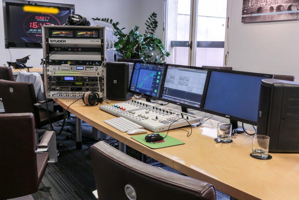 Studio de radio pour une entreprise
