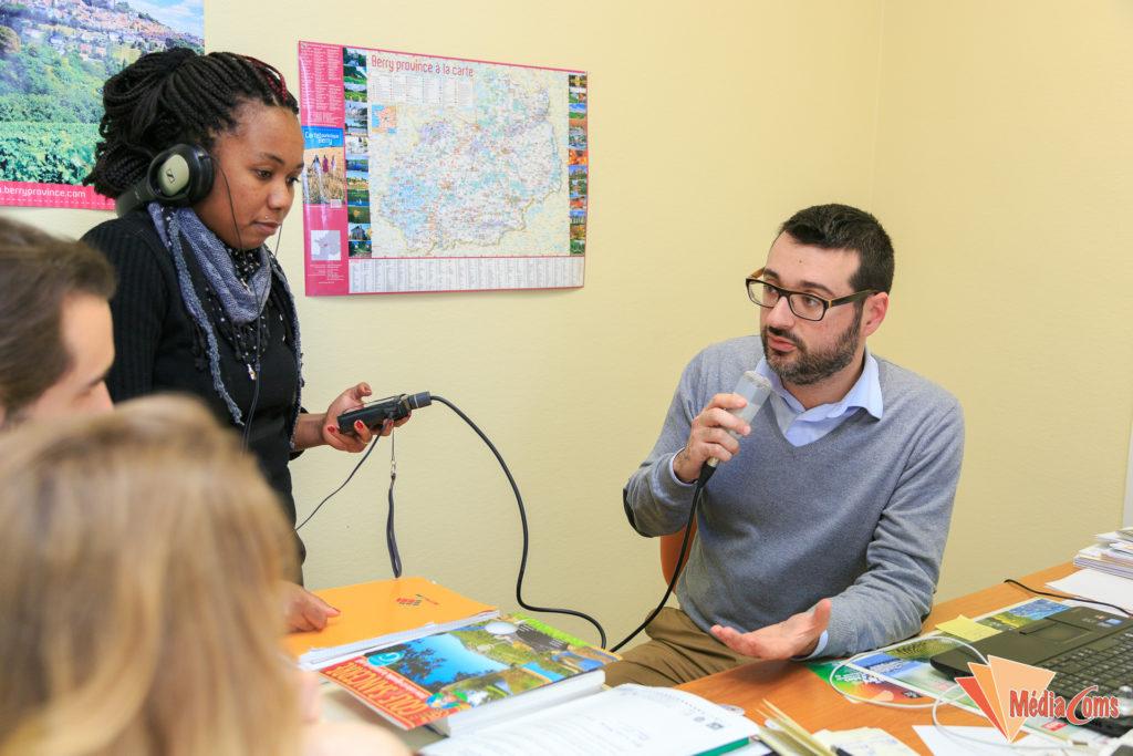 Atelier radio à Sancerre en 2016